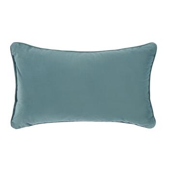 Blue Geometric Embellished Oblong Throw Pillow view 2
