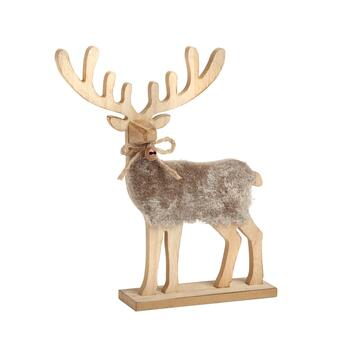 "10.5"" Fur Reindeer Decor"