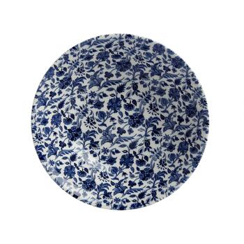 "9.5"" Blue/White Floral Ceramic Salad Bowl view 2"