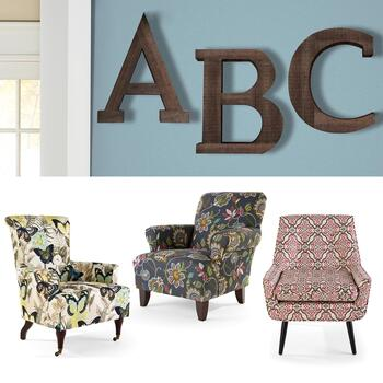 Accent Chairs and Wall Decor