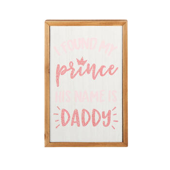 "10"" ""I Found My Prince"" Glitter Framed Wall Decor view 1"
