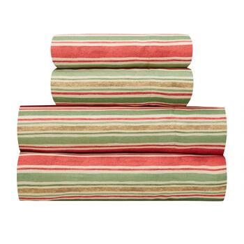 Debbie Mumm® Red/Green Stripes Print Sheet Set