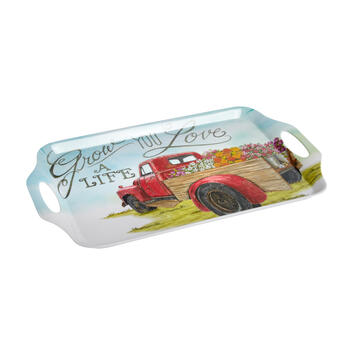 """Grow a Life You Love"" Flower Truck Melamine Tray view 1"