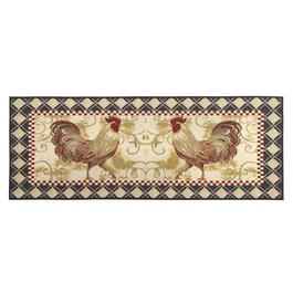 2' x 5' Two Roosters Tapestry Floor Runner