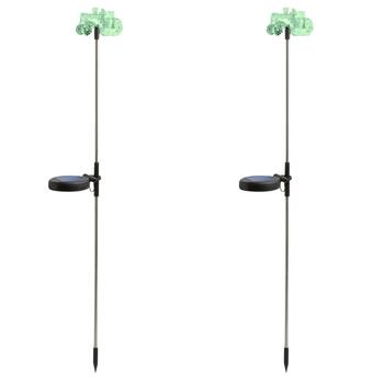 "30.25"" Tractor Color-Changing Solar Stakes, Set of 2"