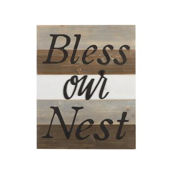 "The Grainhouse™ 16""x20"" ""Bless Our Nest"" Wood Wall Decor"