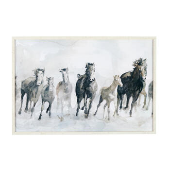 Wd Frm Gy 24x36 Horses view 1