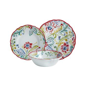 Gypsy Collection Floral Melamine Dinnerware
