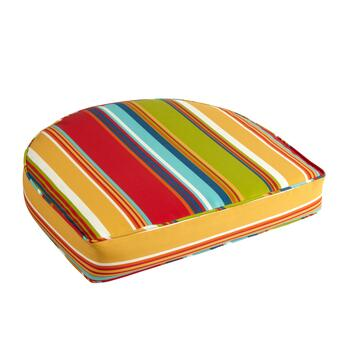 Fiesta Stripe Indoor/Outdoor Gusseted Seat Pad