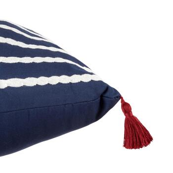Coastal Living Seascapes™ Blue/White Stripe Tassel Oblong Throw Pillow view 2 view 3