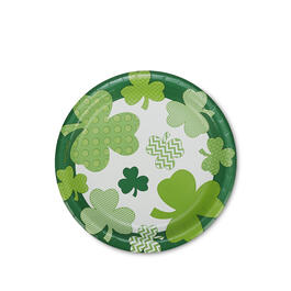 "St. Patrick's Day Clover Fun 7"" Paper Plates 40-Count view 1"
