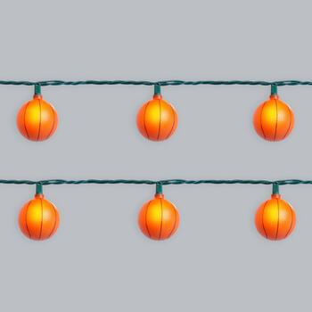 9.5' Basketballs String Lights, Set of 2