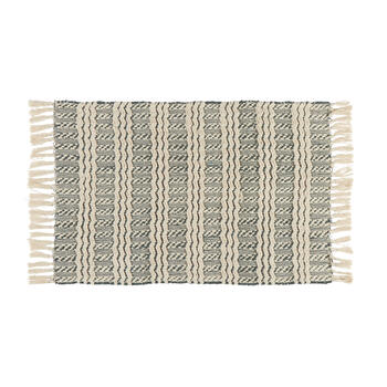 "21""x34"" Zigzag Stripe Cotton Chindi Accent Rug view 1"