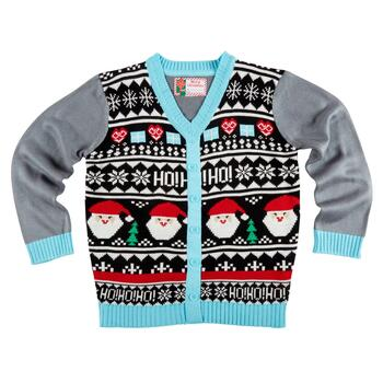 Fair Isle Christmas Sweater.Santa Fair Isle Ugly Christmas Cardigan