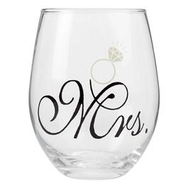 """Mrs."" Stemless Wine Glass view 1"