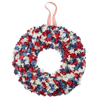 "18"" Red/White/Blue Paper Wreath"
