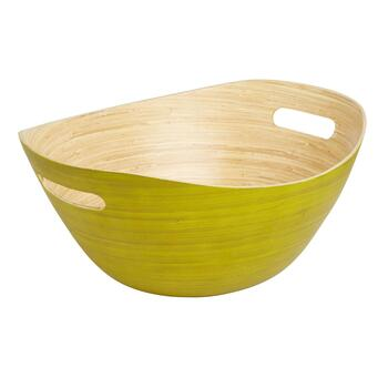Yellow Bamboo Serving Bowl