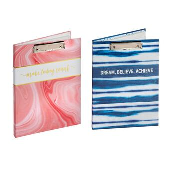 """Make Today Count"" Pink and Blue Padfolio Set, 2-Piece"