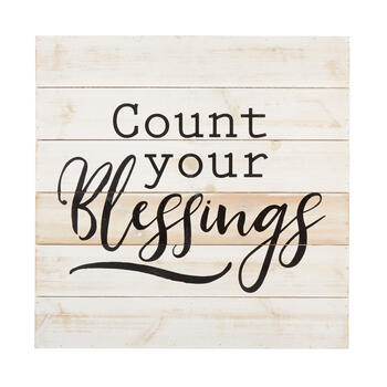 "24"" ""Count Your Blessings"" Square Wood Box Wall Decor view 1"