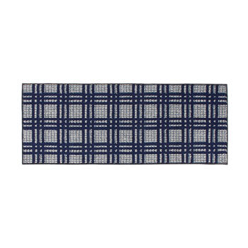 Blue/White Checkered Accent Rug view 2