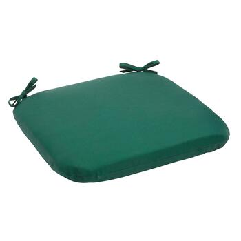 Solid Hunter Green Indoor/Outdoor Squared Seat Pad