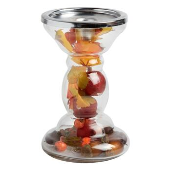 "6.5"" Autumn Harvest Pillar Candle Holder"