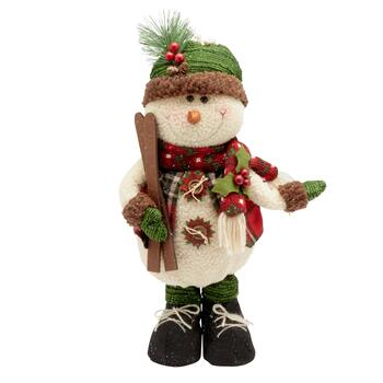 Medium Standing Snowman Decor