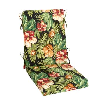 Tropical Flowers Indoor/Outdoor Hinged Chair Pad