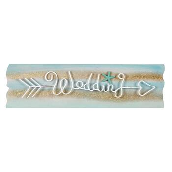 "23""x6"" Coastal ""Wedding"" Arrow Wall Decor"