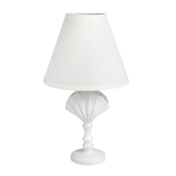 "20"" White Coastal Clam Shell Table Lamp view 1"