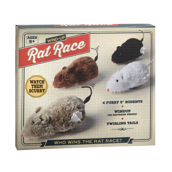 Wind Up Rat Race Play Set, 4-Pack view 1