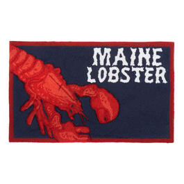"""Maine Lobster"" Hand-Hooked Door Mat view 1"