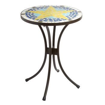 Yellow Star Mosaic Round Table