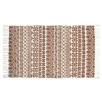 "Coastal Living Seascapes™ 27""x45"" Brown/White Geometric Print Accent Rug"