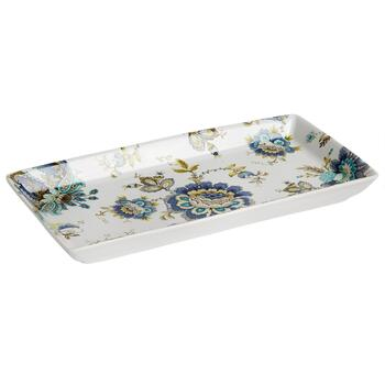 Dalton Flower Oval Ceramic Serving Platter