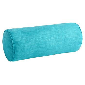 Solid Turquoise Indoor/Outdoor Lumbar Roll Pillow