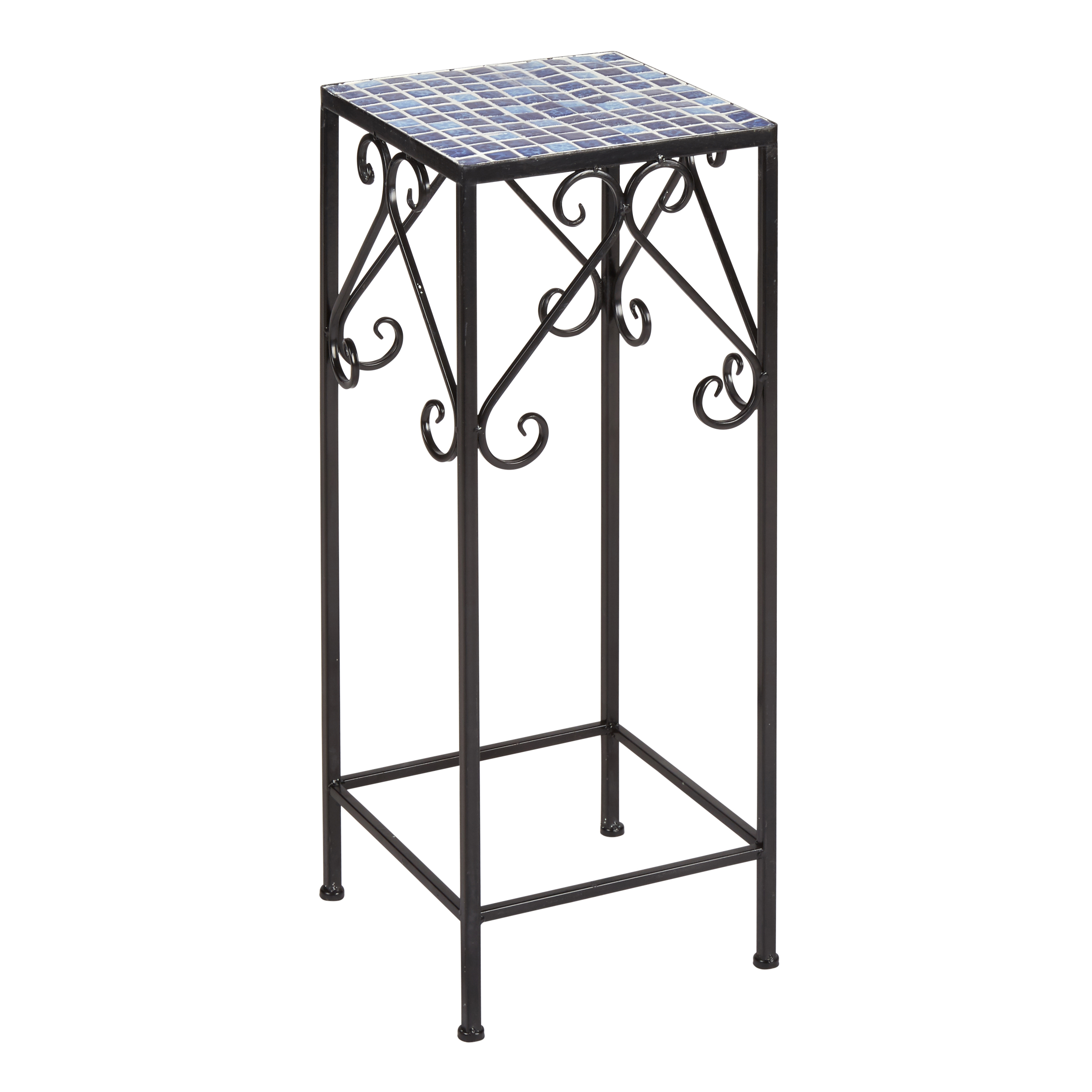 outdoor pedestal clocks with plant hanger square mosaic scroll plant stand view shop planters christmas tree shops and that