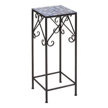 Square Mosaic Scroll Plant Stand view 1