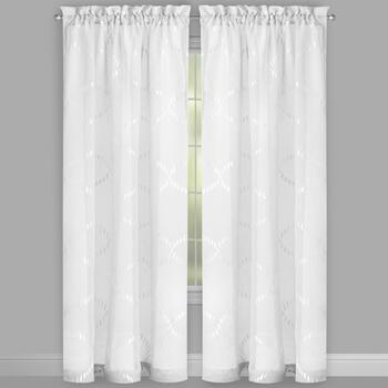 Rope Embroidered Window Curtains, Set of 2 view 2