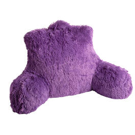 Solid Purple Shag Backrest Pillow view 1