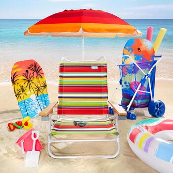 Sand Chairs and Beach Umbrellas