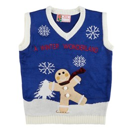 """A Winter Wonderland"" Ugly Holiday Sweater Vest"