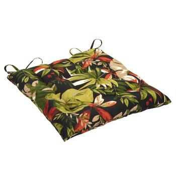 Green Palm Indoor/Outdoor Tufted Square Seat Pad
