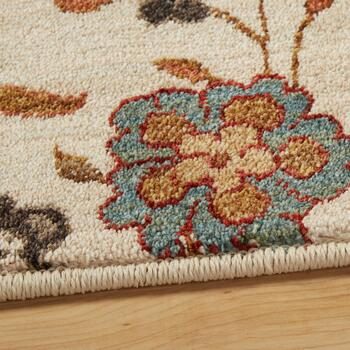 5'x7' Beige/Red Floral Area Rug view 2