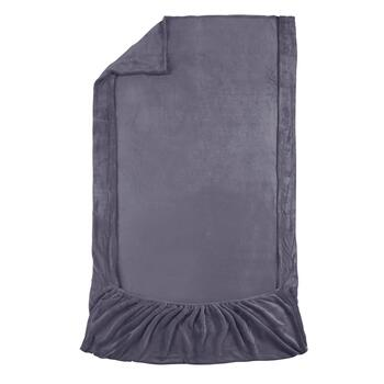 Modern Impressions™ Solid Plush Throw with Foot Pocket