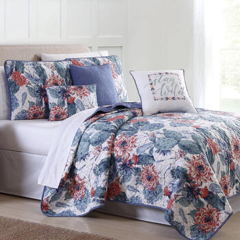 "Tara ""Stay Wild"" Floral Reversible Quilt Set view 1"