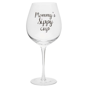 """Mommy's Sippy Cup"" Oversized Wine Glass"