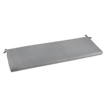 Solid Gray Indoor/Outdoor Bench Seat Pad