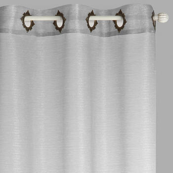"84"" Fancy Grommet Sheer Shimmer Window Curtains, Set of 2 view 1"