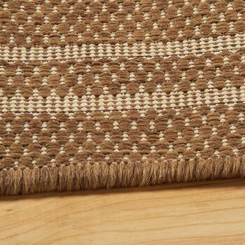 Brown/Beige Lattice All-Weather Area Rug view 2